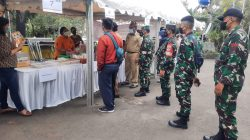 Sambut Hari Sumpah Pemuda Sudin PPKUKM Gelar Bazar Murah di Wilayah Binaan Koramil 02/TB